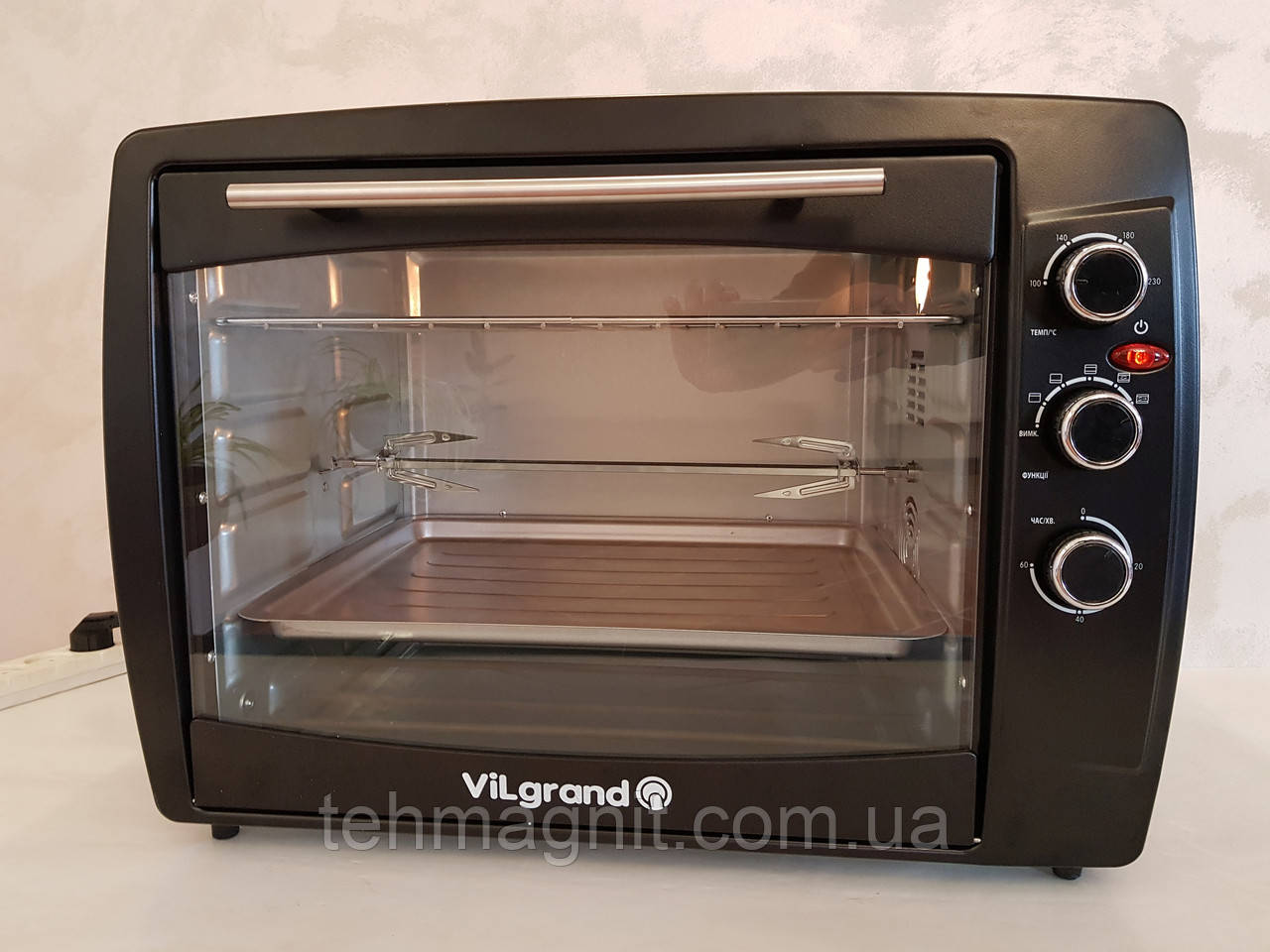 Електрична піч ViLgrand VEO650-18 з конвекцією Black 65 L 2200W