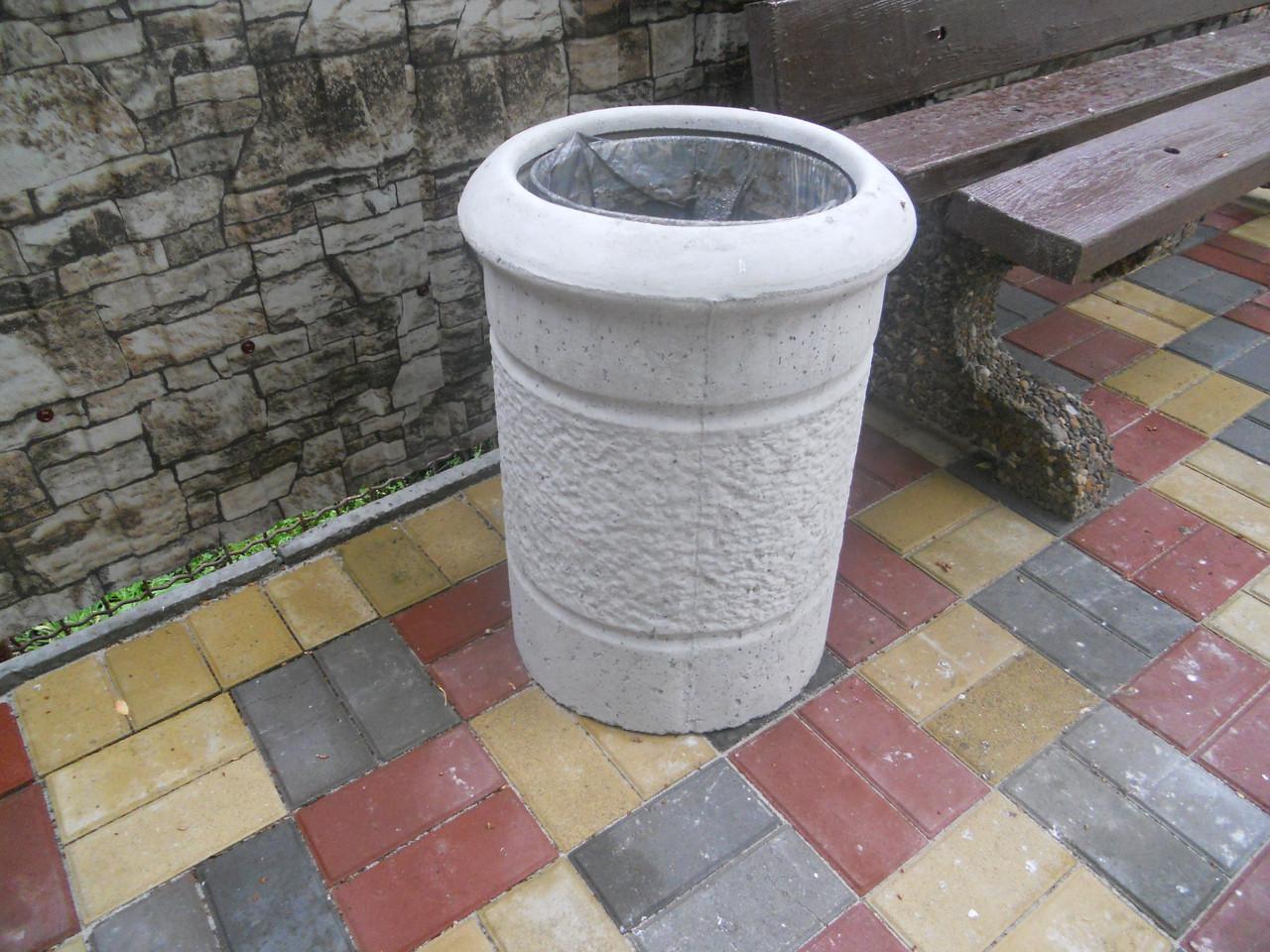 """Урна """"СНЕЖКА"""". Урны уличные бетонные от производителя."""