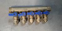 """Коллектор с вентильными кранами и фитингом, 3/4 """"х16, 6"""" APC """", шт-1 (без упаковки, есть потертости) - Уценка"""