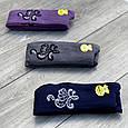 Підліткові колготи бавовна KBS з малюнком квітки прикрашені люрексом 11 років 6 шт. в уп. мікс із 3х кольорів, фото 4