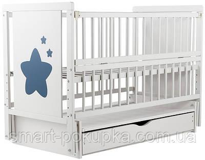 Ліжко Babyroom Зірочка Z-03 маятник, ящик, відкидний пліч бук білий