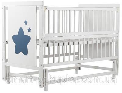 Ліжко Babyroom Зірочка Z-02 маятник, відкидний пліч бук білий