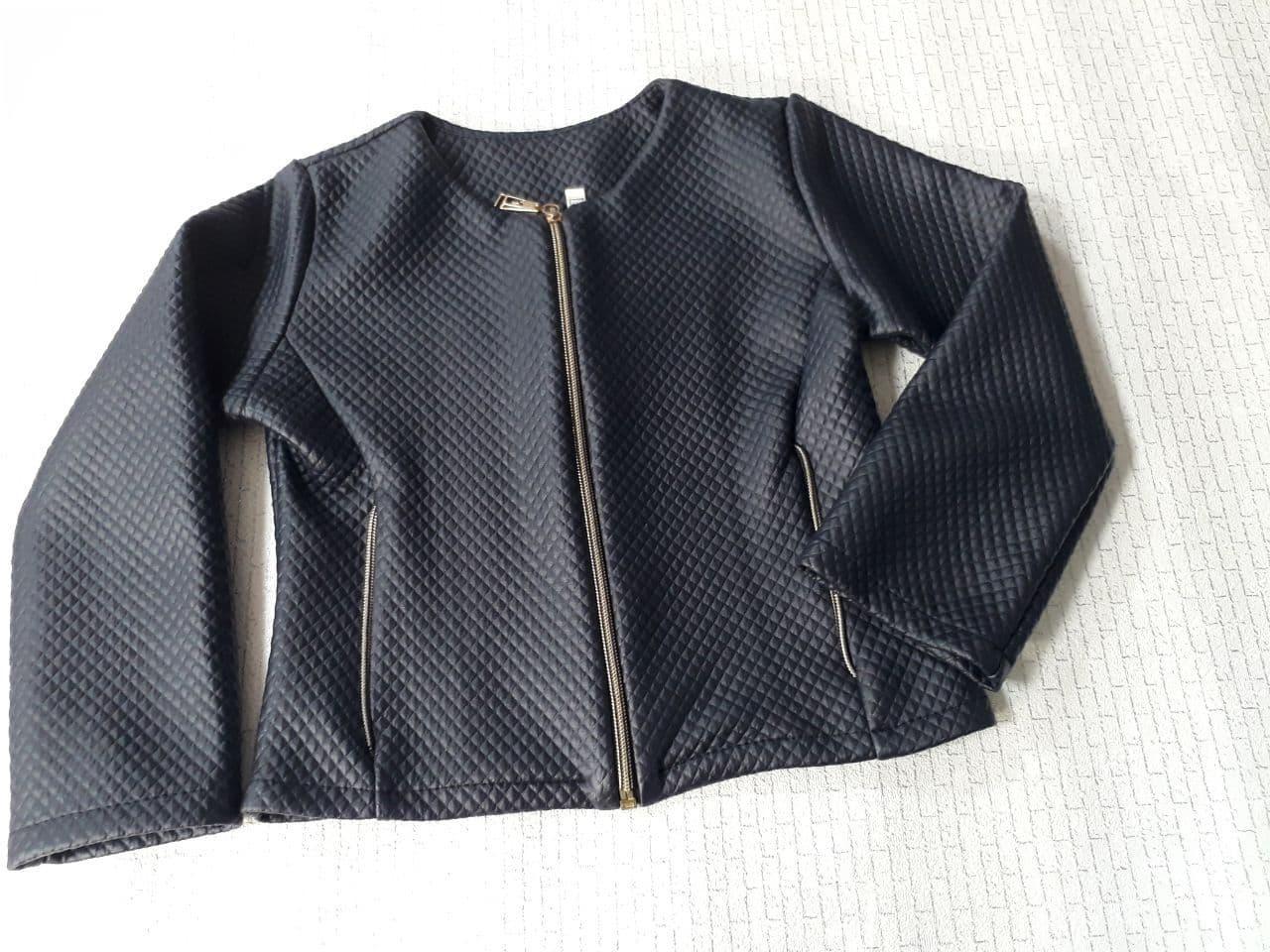 Піджак на змійці для дівчинки 116 см, чорний