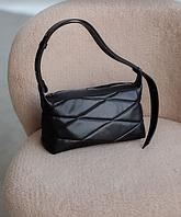 Жіноча сумка Доггі екошкіра 28*15*11 см чорний