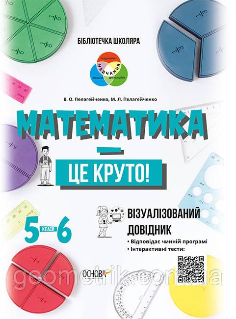Бібліотечка школяра. Математика — це круто! Візуалізований довідник. 5–6 класи. арт. КДН020 ISBN 9786170039552