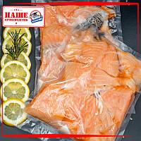 Кусочки лосося свежемороженые на шкуре 250 г
