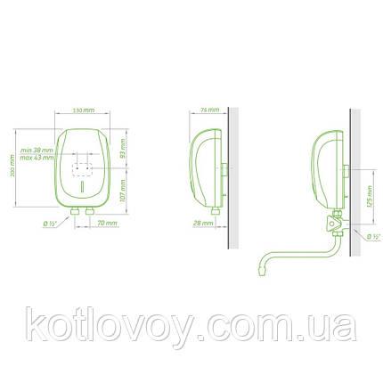 Проточний водонагрівач Tesy із змішувачем 5,0 кВт (IWH50X02KI) 301661, фото 2