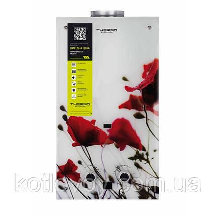 Газова колонка Thermo Alliance димохідна JSD20-10GB 10 л скло (квітка), фото 2