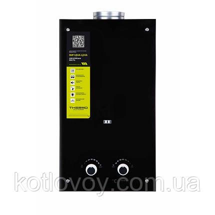 Газова колонка Thermo Alliance димохідна JSD20-10GD 10 л скло (чорне), фото 2