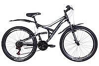 """Велосипед 26"""" Discovery CANYON 2021 (черно-белый с серым (м))"""