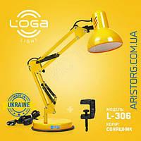 Лампа настольная Пантограф LOGA Е-27 Подсолнух L-306