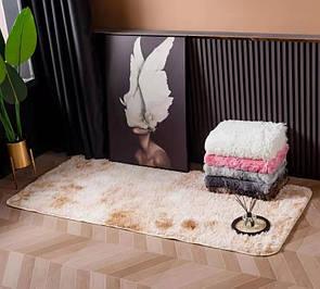 М'який килимок приліжковий з довгим ворсом 100х200 см, килимок для ванної, різні кольори