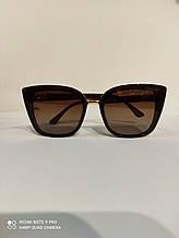 Очки женские солнцезащитные Jimmy Choo (реплика) с поляризацией и градиентом, коричневые, кошечки