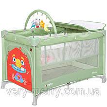 Детский манеж-кровать Carrello Molto CRL-11604 (зеленый цвет)