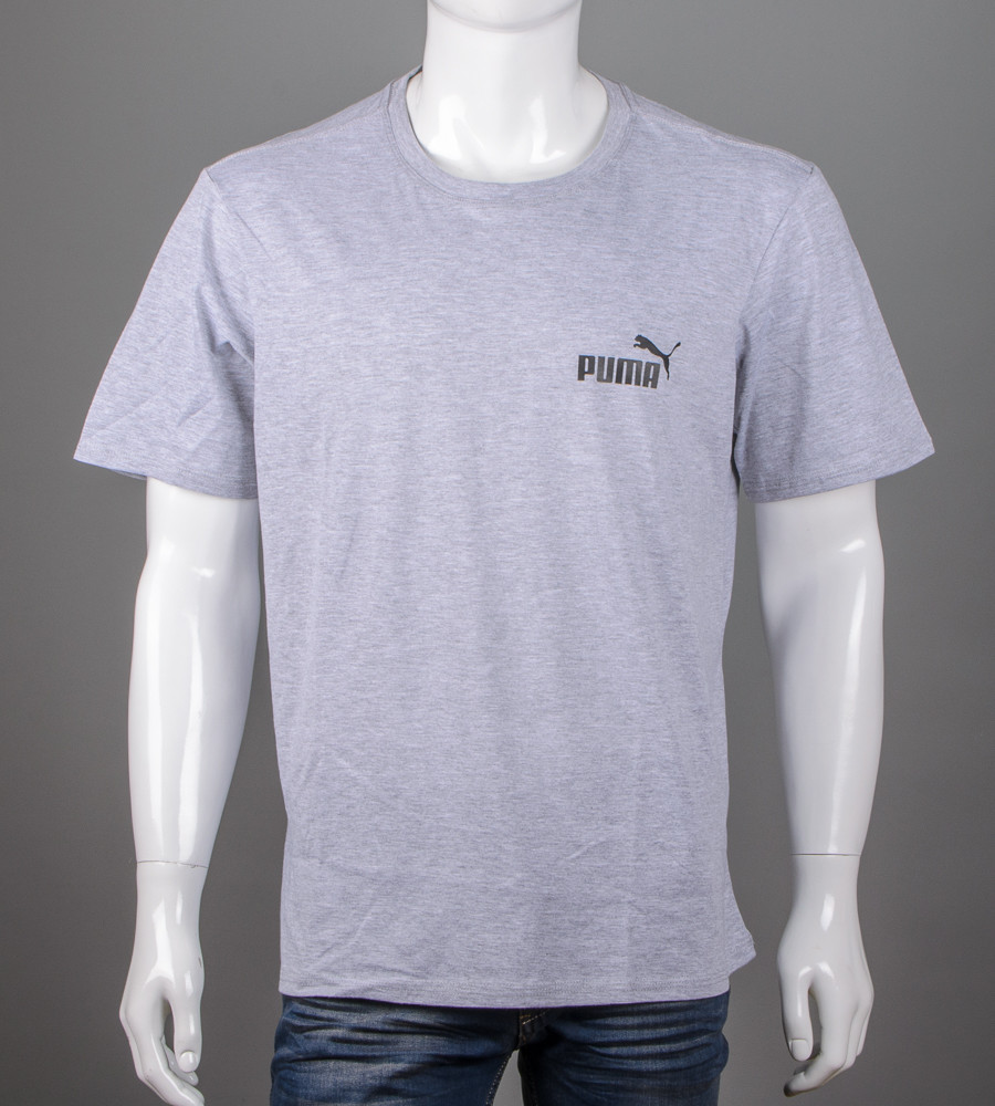 Футболка чоловіча батал Puma (2108б), Сірий меланж