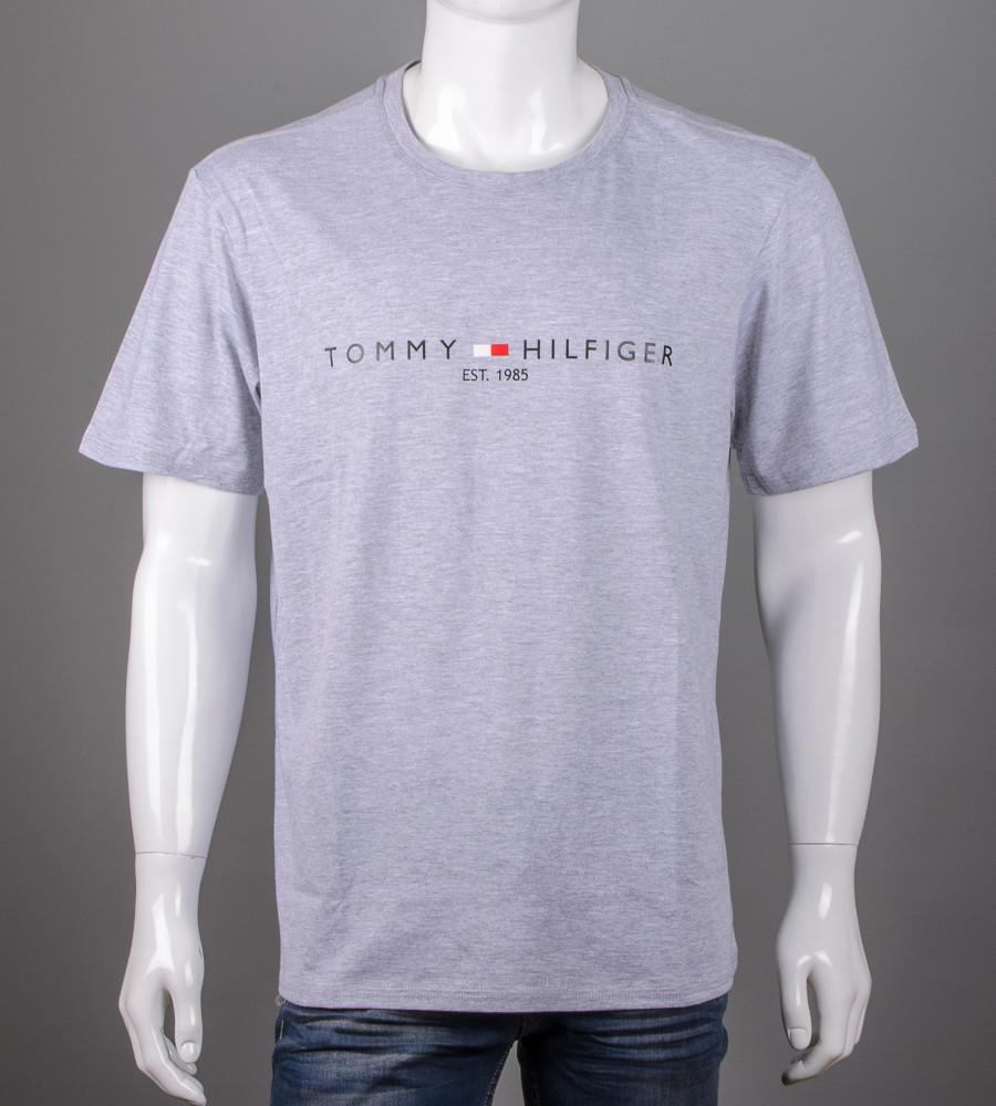 Футболка чоловіча батал Tommy Hilfiger (2101б), Сірий меланж