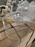 Стеклянный колпак. Стеклянная крышка. Стеклянный клош. Высота 18 см, диаметр 27 см