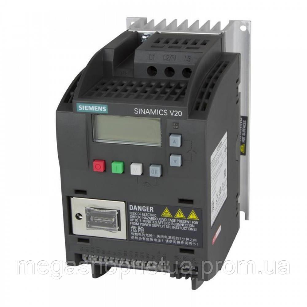 6SL3210-5BE22-2UV0 частотный преобразователь 2,2 кВт 3 фазы 380-480В Siemens SINAMICS V20