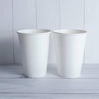 Бумажний стакан білий 400 мл