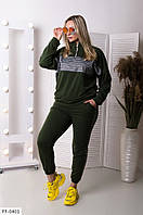 Молодежный стильный спортивный костюм двунитка больших размеров 48-56 арт.  554, фото 1