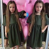Детское кожанное свободное платье FA-7960