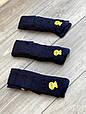 Дитячі підліткові колготки бавовняні KBS ажурні для дівчат 7,9,11 років 6 шт. в уп.чорні з синім візерунком, фото 6