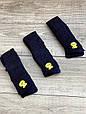 Дитячі підліткові колготки бавовняні KBS ажурні для дівчат 7,9,11 років 6 шт. в уп.чорні з синім візерунком, фото 4