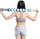 Масажер-стрічка роликовий Massage Rope для всього тіла спини універсальний стрічковий ручної розминає масажер, фото 8