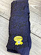 Детские подростковые колготки хлопковые KBS ажурные для девушек  6 шт. в уп.чорни с синим узором, фото 5