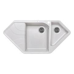 Мойка на кухню угловая LIDZ LIDZGRA091000500225 500мм x 1000мм серый на полторы чаши 83192