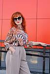 Жіноча шифонова блуза в яскравий анімалістичний принт Lesya Карон 6 48, фото 5