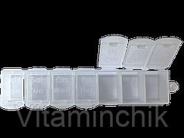 Органайзер для таблеток (таблетница) на 7 секцій, Irak Plastik