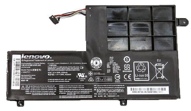 Аккумулятор для ноутбука Lenovo L14M2P21 Ideapad 300S / 7.4V 3900mAh / Original Black