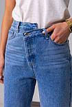 Голубые широкие и длинные джинсы с высокой посадкой в размерах: S, M, L, XL., фото 9