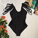 Модный купальник женский сплошной  мама-дочка, фото 2