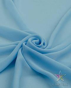 Шифон однотонный Небесно Блакитний