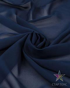 Шифон однотонный Темно Синій