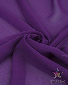 Шифон однотонный Фіолетовий