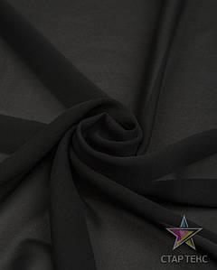 Шифон однотонный Чорний