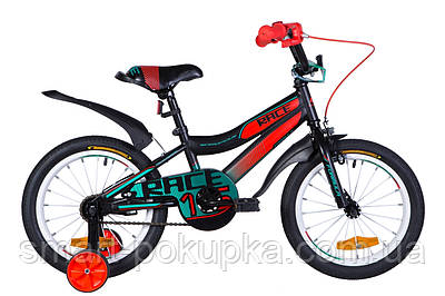 "Велосипед 16"" Formula RACE 2021 (малиново-зелений з блакитним)"