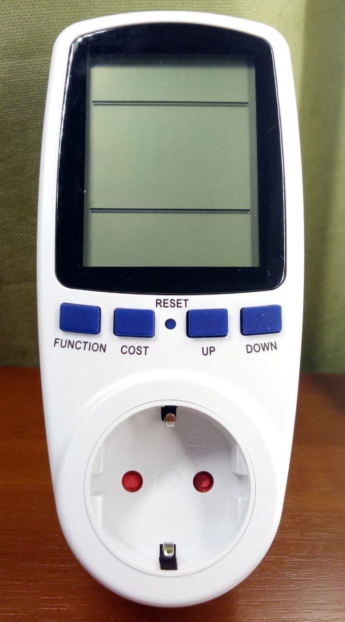 Розетка - энергометр счётчик электроэнергии портативный Feron TM55 (вольтметр, ваттметр, амперметр)
