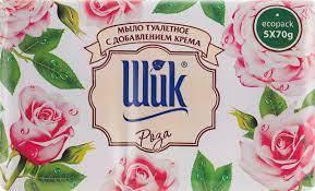 "Туалетне мило""Шик""Роз.+крем 70г.(5шт.)"