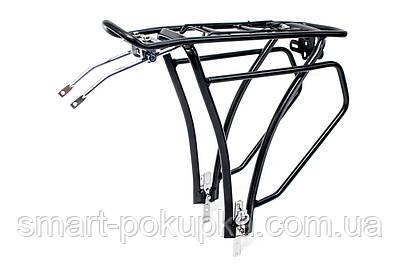 Багажник алюм. під велобаул регульоване кріплення KAIWEI KW-652-03 (черн.)