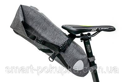 """Велосумка """"байкпакинг"""" під сідло 62x14x14cm сірий водоотталк. BRAVVOS A2-402"""