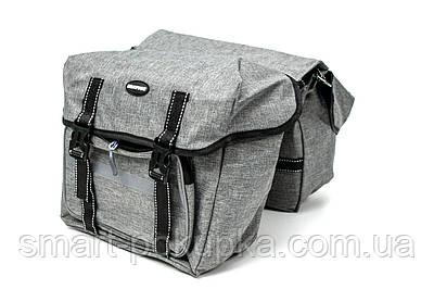 Велосумка штани, на багажник 35x28x14cm сірий BRAVVOS F-091-2, водоотталк. матеріал