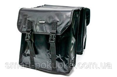 Велосумка штани, на багажник 31x14x33cm чорний BRAVVOS F-089, водоотталк. матеріал