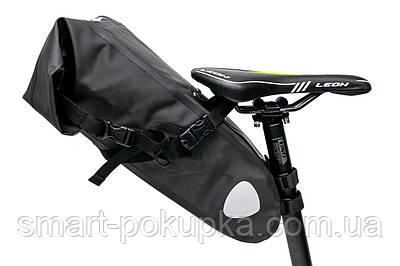 """Велосумка """"байкпакинг"""" під сідло 62x14x14cm чорний водоотталк. BRAVVOS A2-402"""