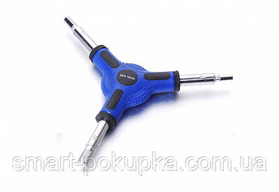 Ключ шестигранник Y-образный 4/5/6 KEN TECH KL-9736B