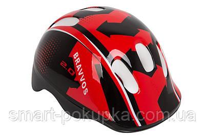 Шлем велосипедный HEL100 черно-красный (черно-красный)