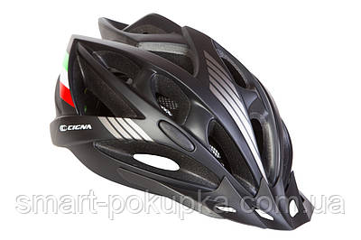 Шлем велосипедный с козырьком CIGNA WT-036 черный (Черный)